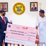COVID-19: UBA Presents N1billion to Lagos State.