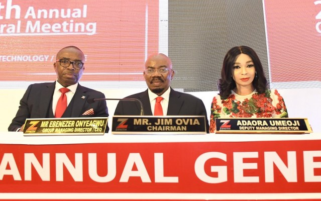 Zenith Bank fetes shareholders with dividend payout of N87.9 billion