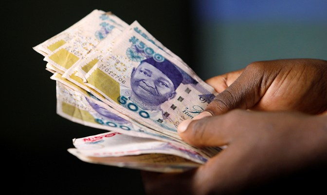 The naira is falling