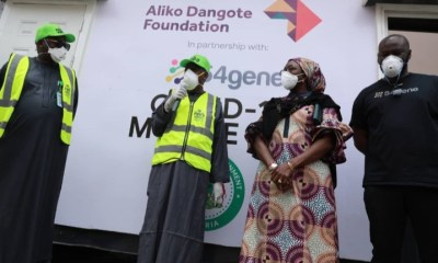 Aliko Dangote Foundation Engages 54gene Laboratory to Conduct 1,000 COVID-19 Tests per Day in Kano