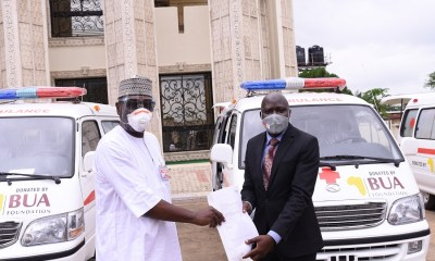 Rivers, Kwara, receive 6 ambulances, food supplies and N100million each from BUA for COVID-19 intervention