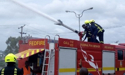 Fire guts Access Bank building in Victoria Island