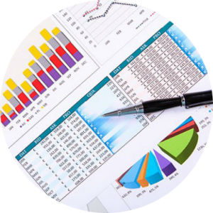 Financial analytics charts