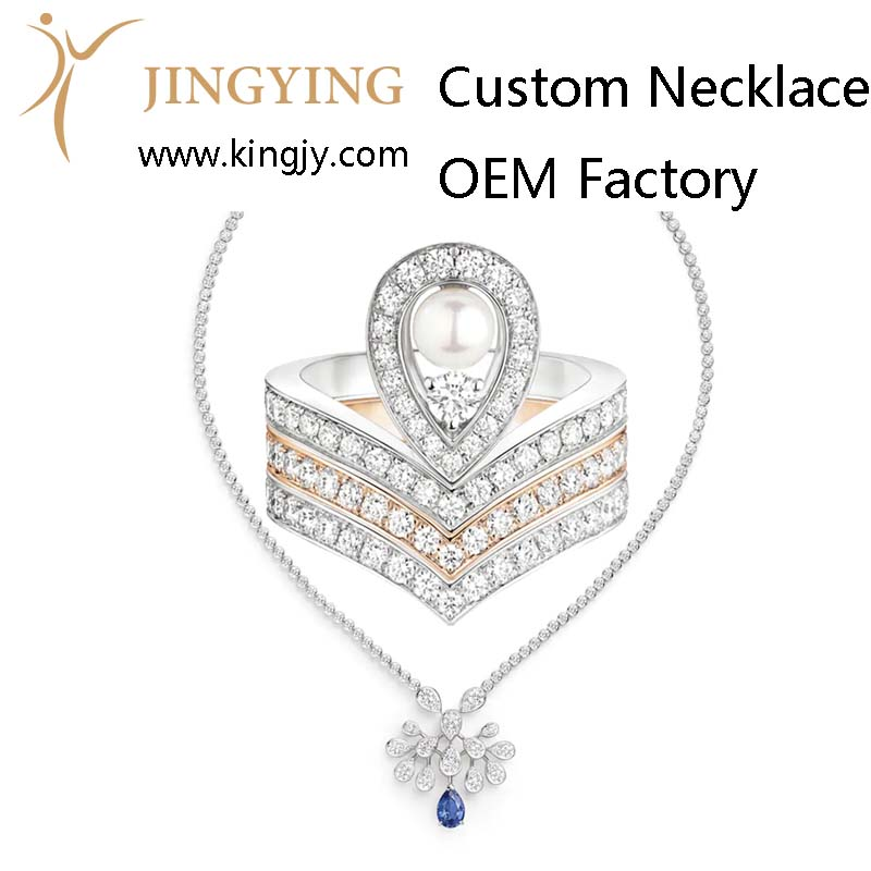 Custom design 925 sterling silver necklace supplier