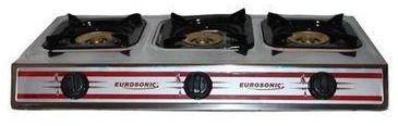 Eurosonic 3-burner gas cooker