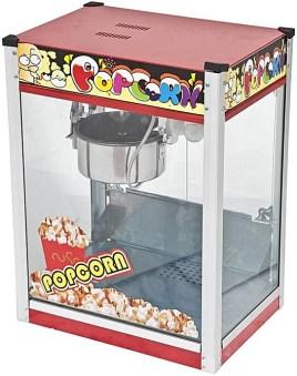 Flat top popcorn making machine