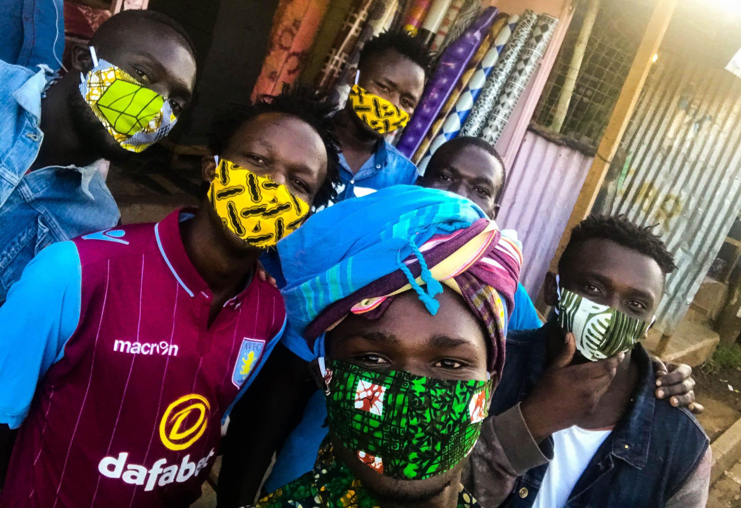 Kenyan fashion designer hands out masks to protect vulnerable ...