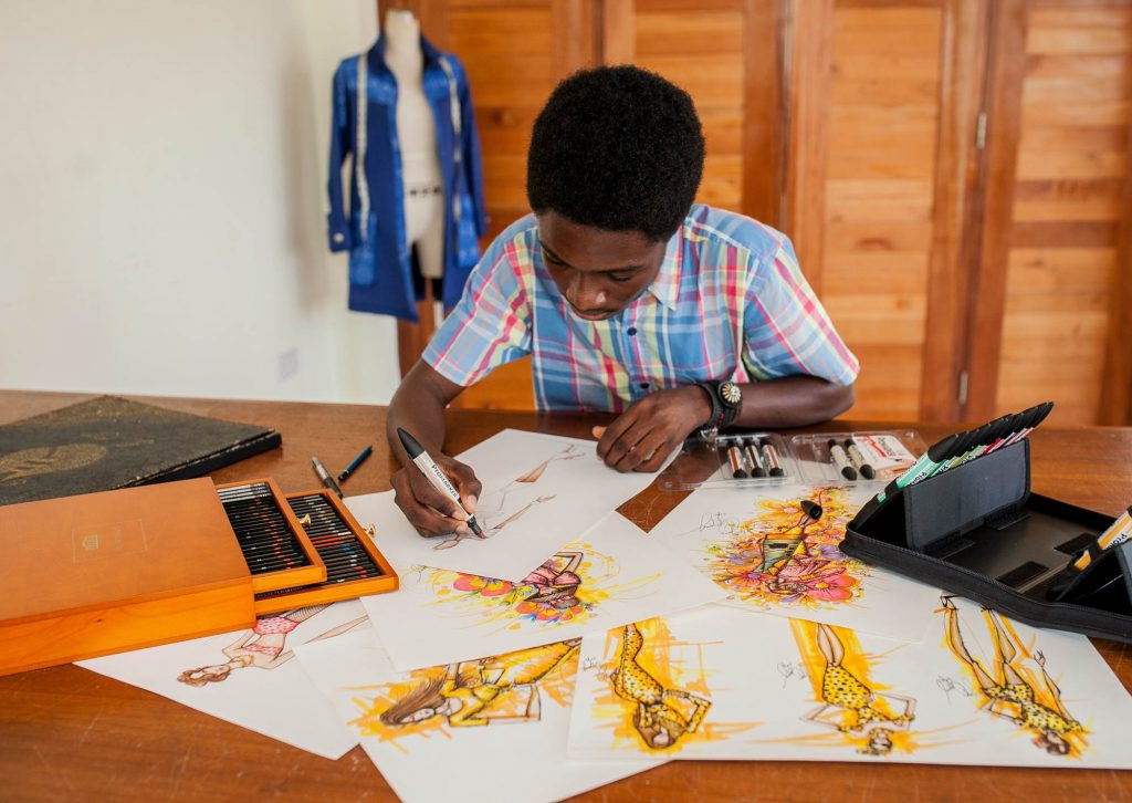 Papa Oppong, a Ghanaian Designer who Rocks the Fashion World while fighting Malaria