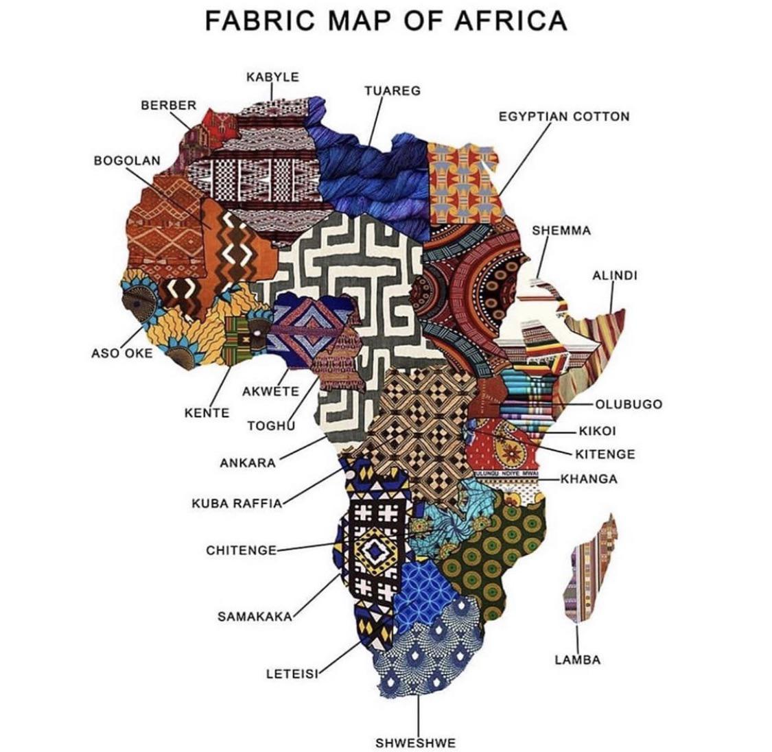 The World's Going Mad for This Fabric Map of Africa
