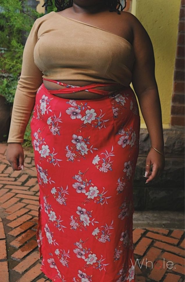 ' Criss-Cross Maua ' 3 Slit Skirt