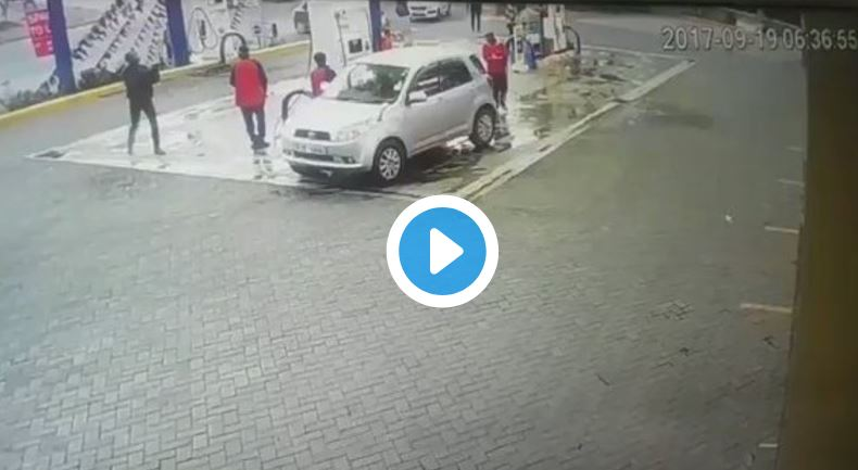 Image result for RAW VIDEO: Daring Daylight Robbery at a Nairobi Petrol Station Caught on CCTV
