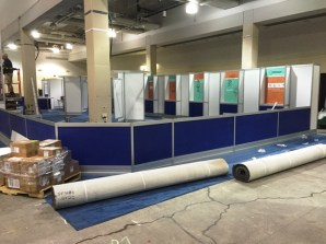 Assembling the NAIS Bookstore in the Exhibit Hall