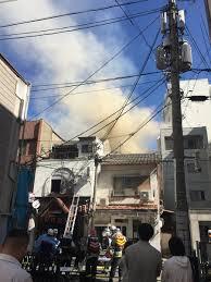 日本橋 黒門市場付近で火事