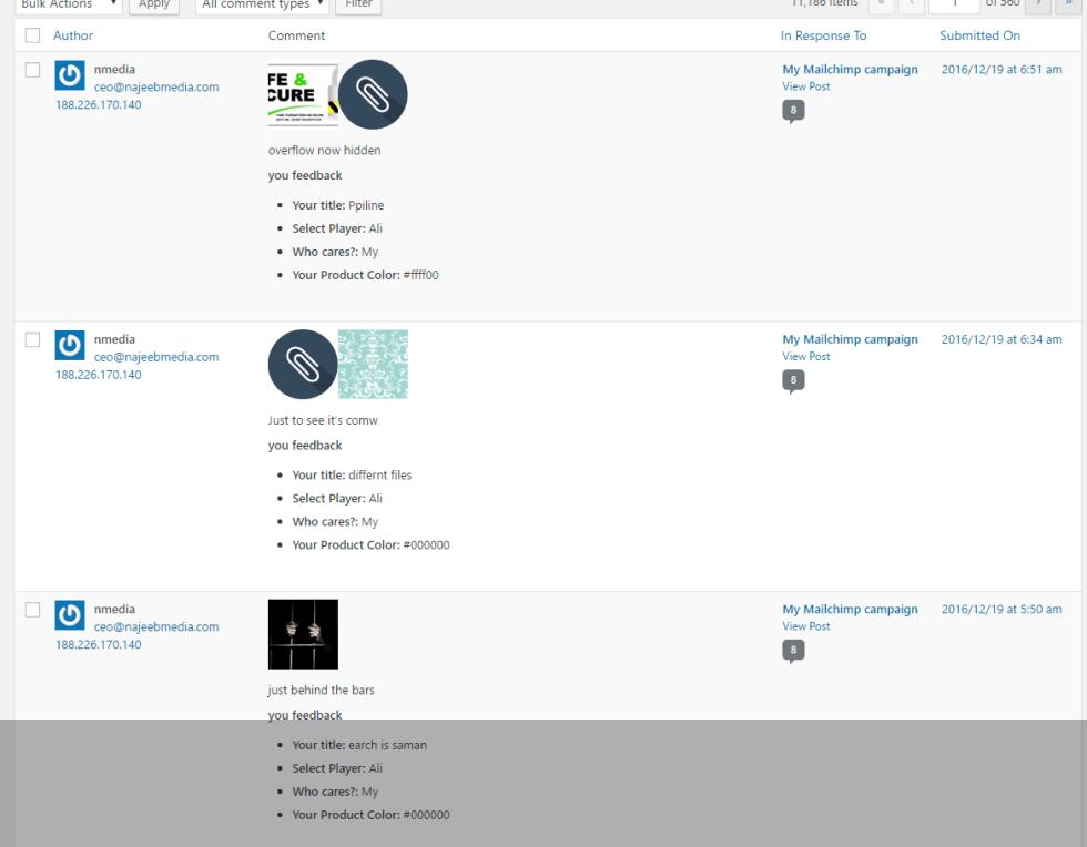 Admin-comments-list