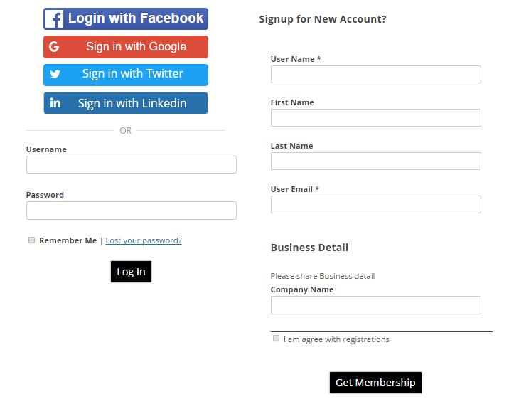 WordPress Social Logins