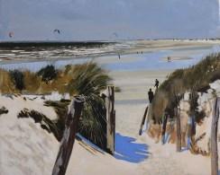 Chemin de dune et Kit surf. Acryl, 65X54 . Vendue