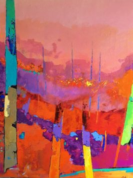 Acrylique+ Médium sur toile lin. 81 X 100