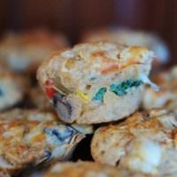 Muffiny z kurczakiem i warzywami