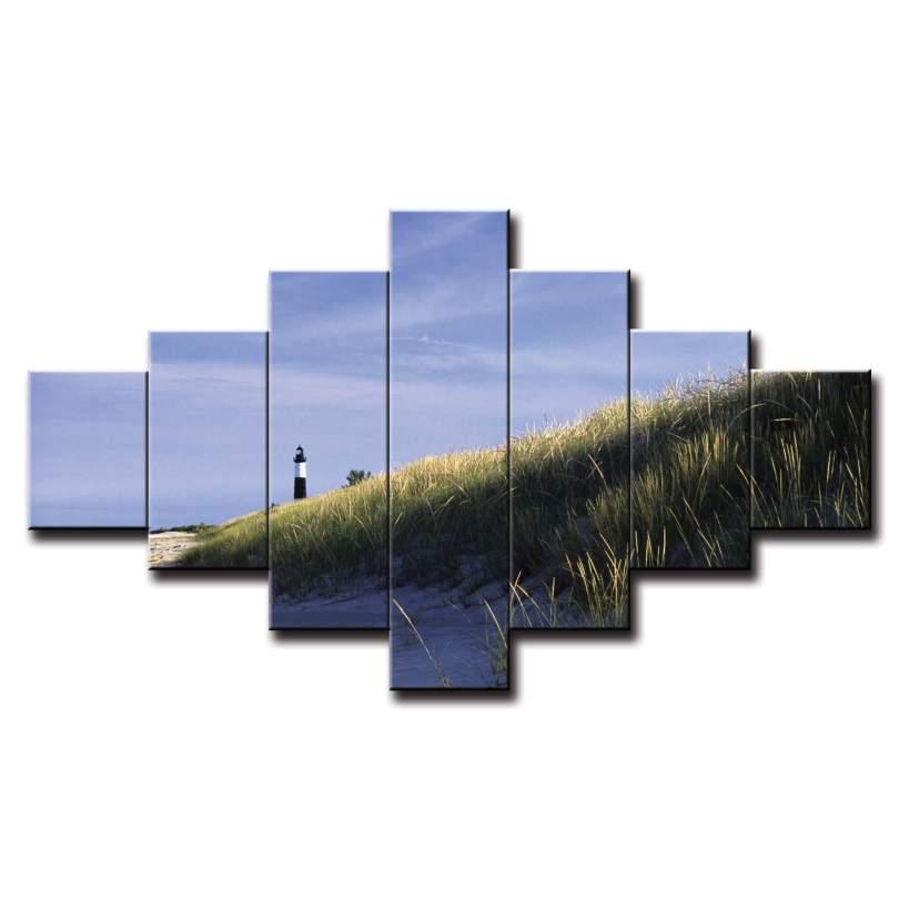 7 dielny obraz na stenu pobrežie s majákom