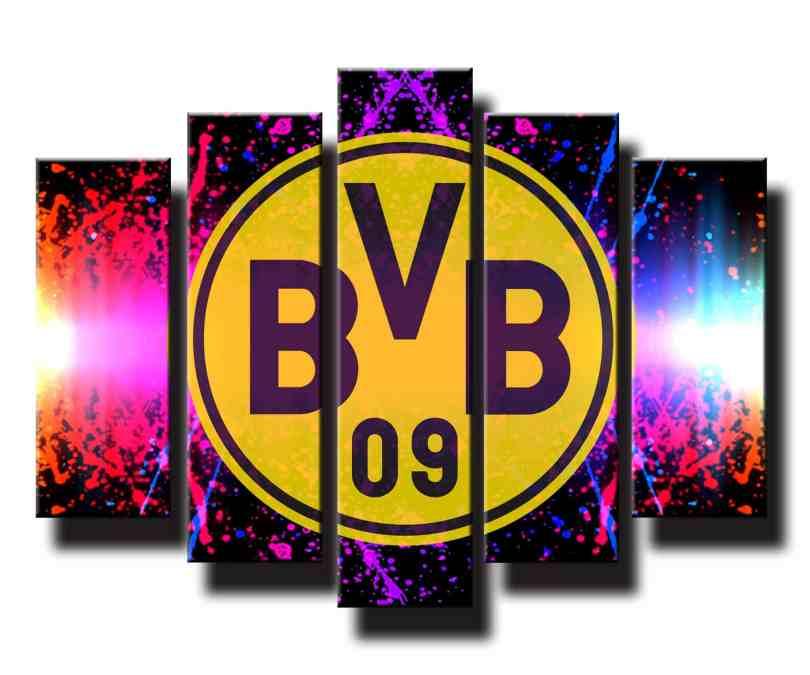 5 dielný obraz na stenu Borussia Dortmund