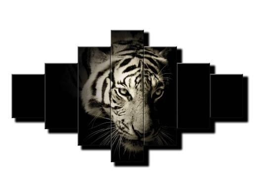 7 dielny obraz na stenu Portrét tigra
