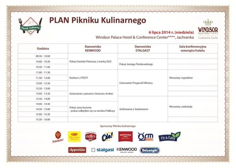 Agenda Pikniku Kulinarnego BlogerChefa
