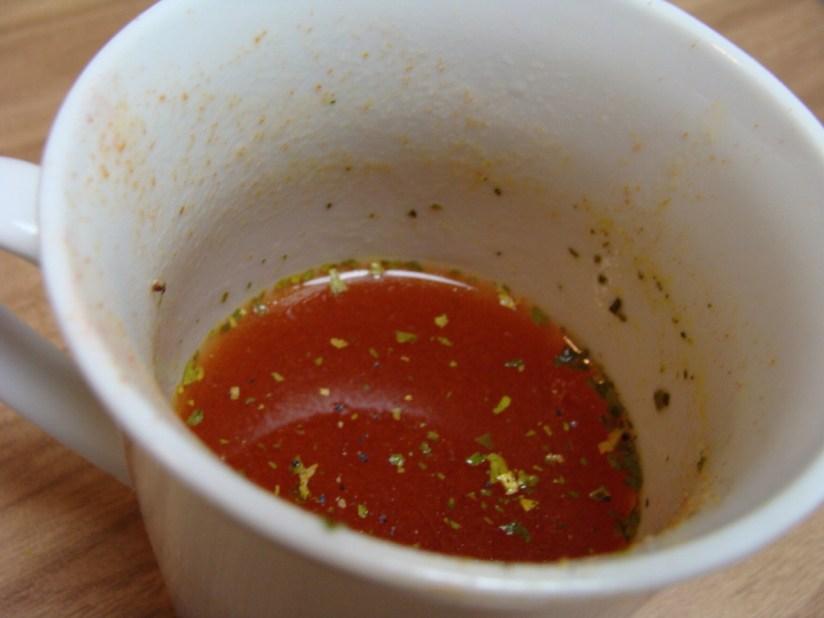 Racja żywnościowa Państwowej Straży Pożarnej - zupa pomidorowa