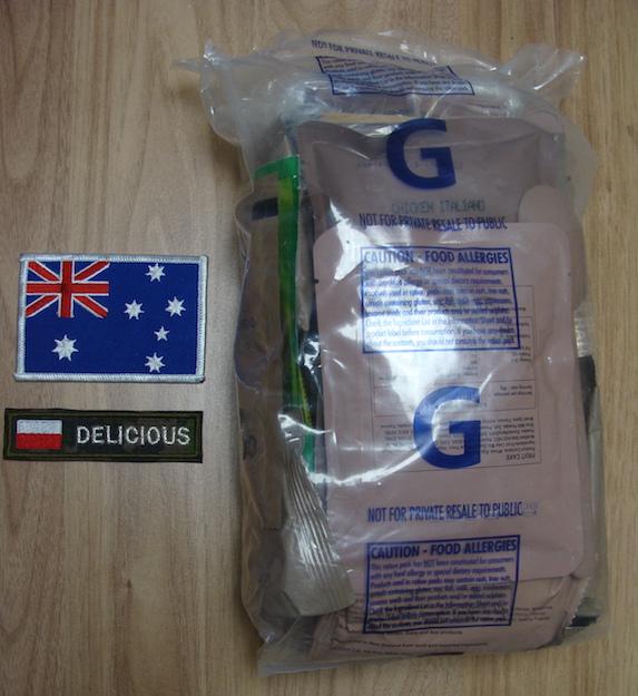Racja armii australijskiej menu G
