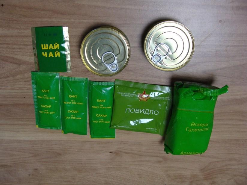 Racja armii Kazachstan menu 2 - śniadanie