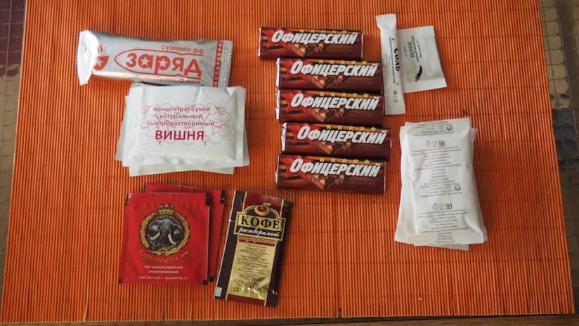 Racja górska 24h armii rosyjskiej - słodycze, napoje
