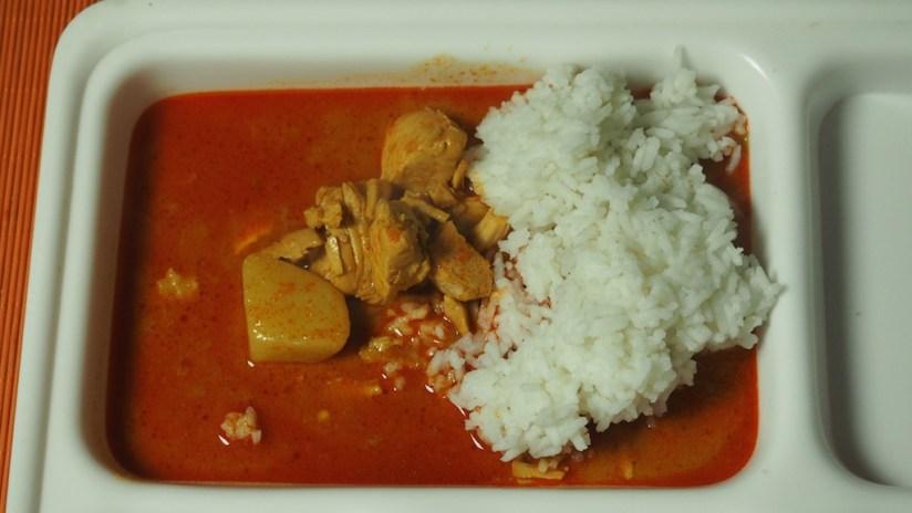 Racja policji malezyjskiej kurczak w czerwonym curry
