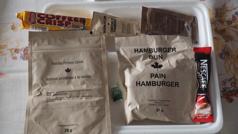 Racja armii kanadyjskiej menu 19 - zawartość