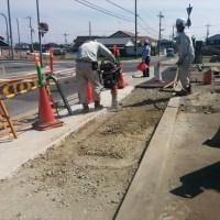 加古郡播磨町大中1丁目 歩道施工