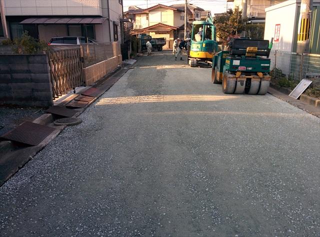 高砂市梅井3丁目道路舗装 (4)