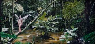 Fairy Forest - Óleo sobre tela, 95cm x 200cm.