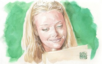 Aquarela Amanda Seyfried - Letters to Juliet