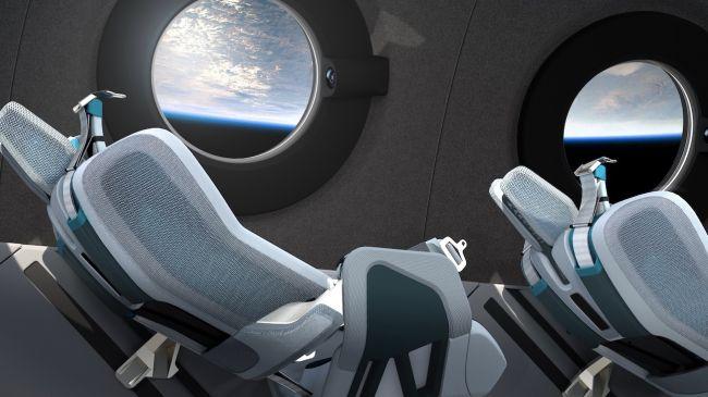 Virgin Galactic представила интерьер космического корабля SpaceShipTwo