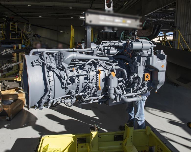 Массо-габаритный макет ТРД GE T901
