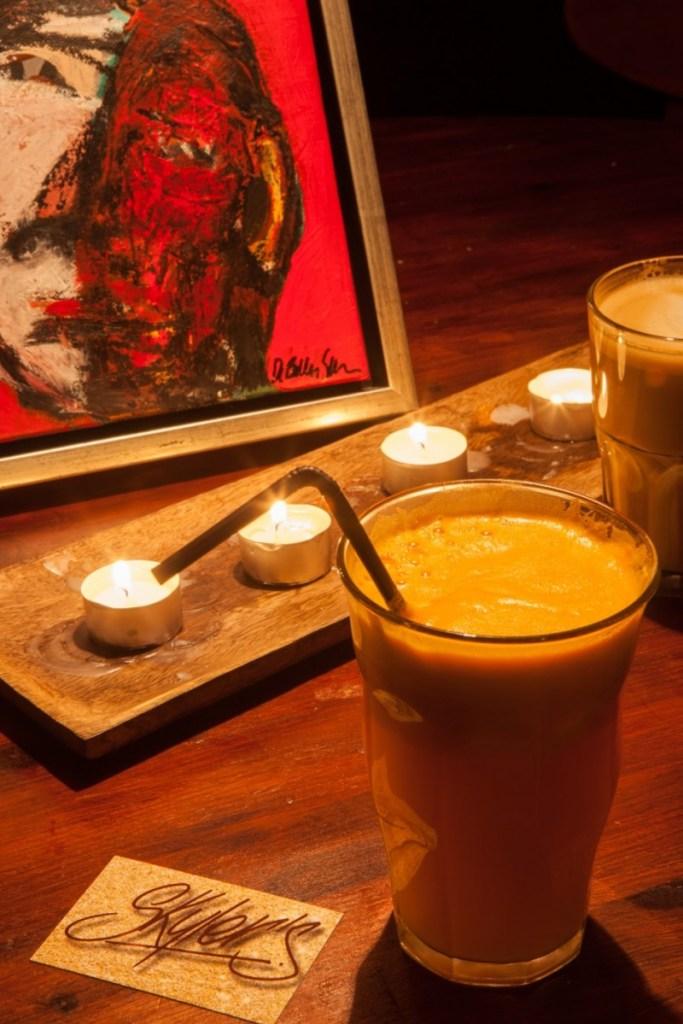 스카일러스 카페의 특제 주스(사진: 여지형)