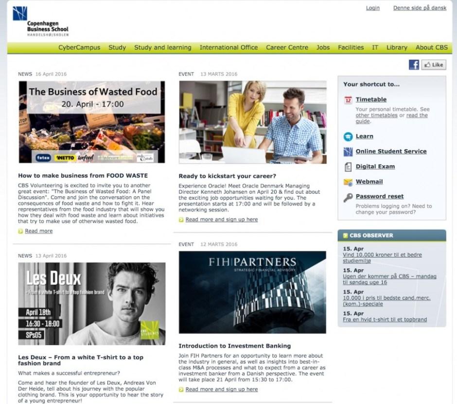 CBS e-Campus 웹사이트 갈무리