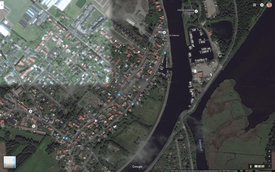 시신이 발견된 오덴세 로스베이 운하