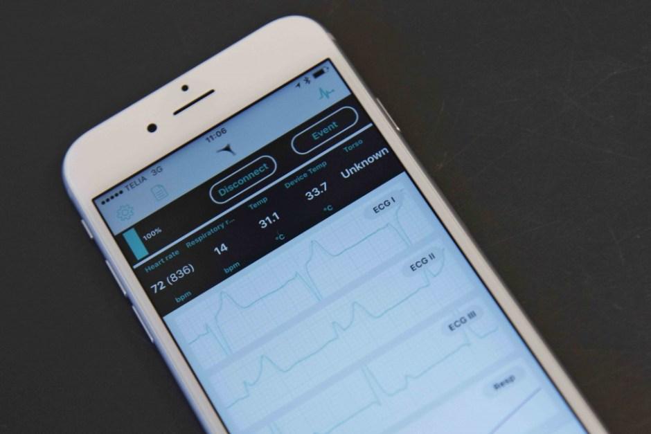 Cortrium의 ECG 모니터링 스마트폰용 앱(출처: Cortrium 제공)