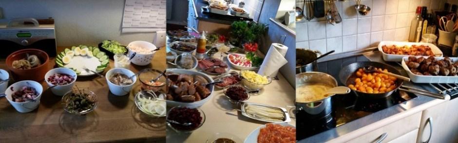크리스마스 런치 상에 오르는 음식. 찬 생선부터 뜨거운 고기와 감자까지 다양한 음식을 맛볼 수 있다 (사진: 탄야 닐슨)