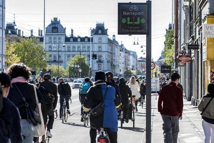 코펜하겐 자전거 교통상황판 구상도 (코펜하겐시 제공)