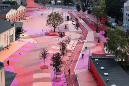 코펜하겐 뇌레브로 지역 재생 사업으로 2012년 완공된 수페르킬렌(Superkilen) 공원(코펜하겐관광청 제공)