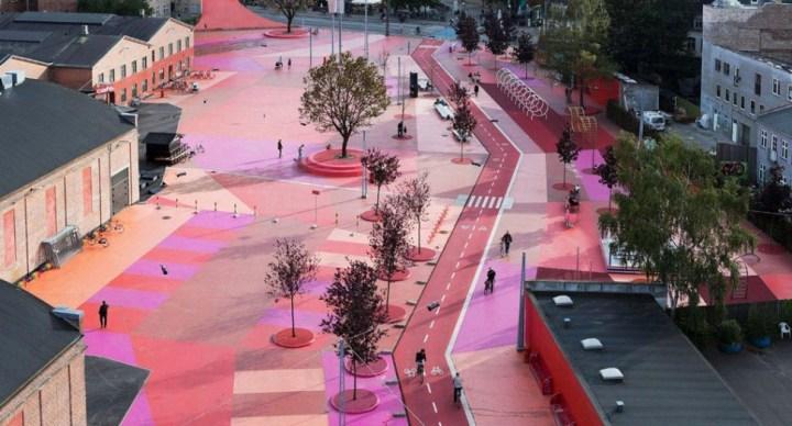 코펜하겐 명물 '붉은 광장' 다시 포장한다