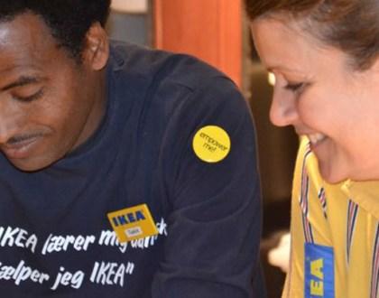 이케아에서 인턴십 중인 난민 (덴마크 이민통합부 제공)