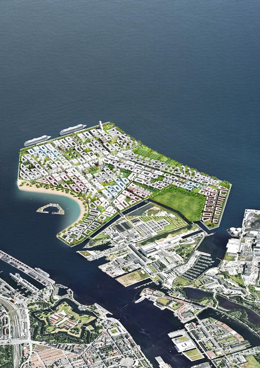 인공섬 뤼네테홀멘(Lynetteholmen) 조감도(덴마크 교통건설주택부 제공)