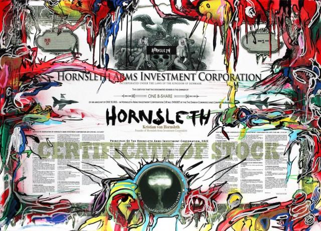 HAIC(Hornsleth Arms Investment Corporation) 증권 증서(HAIC 제공)