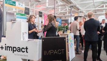 스칸디나비아 최대 스타트업 행사 테크바비큐(TechBBQ) 2019에 5개 임팩트 스타트업 이 부스를 차렸다 (안상욱 촬영)